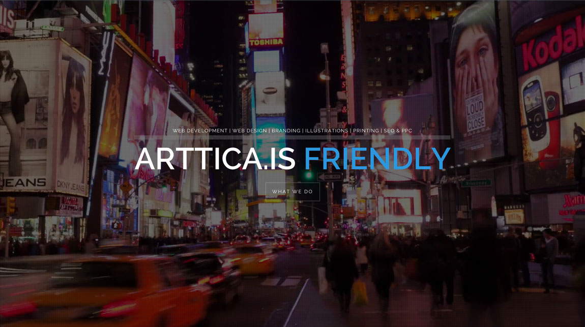 Arttica Website Screenshot