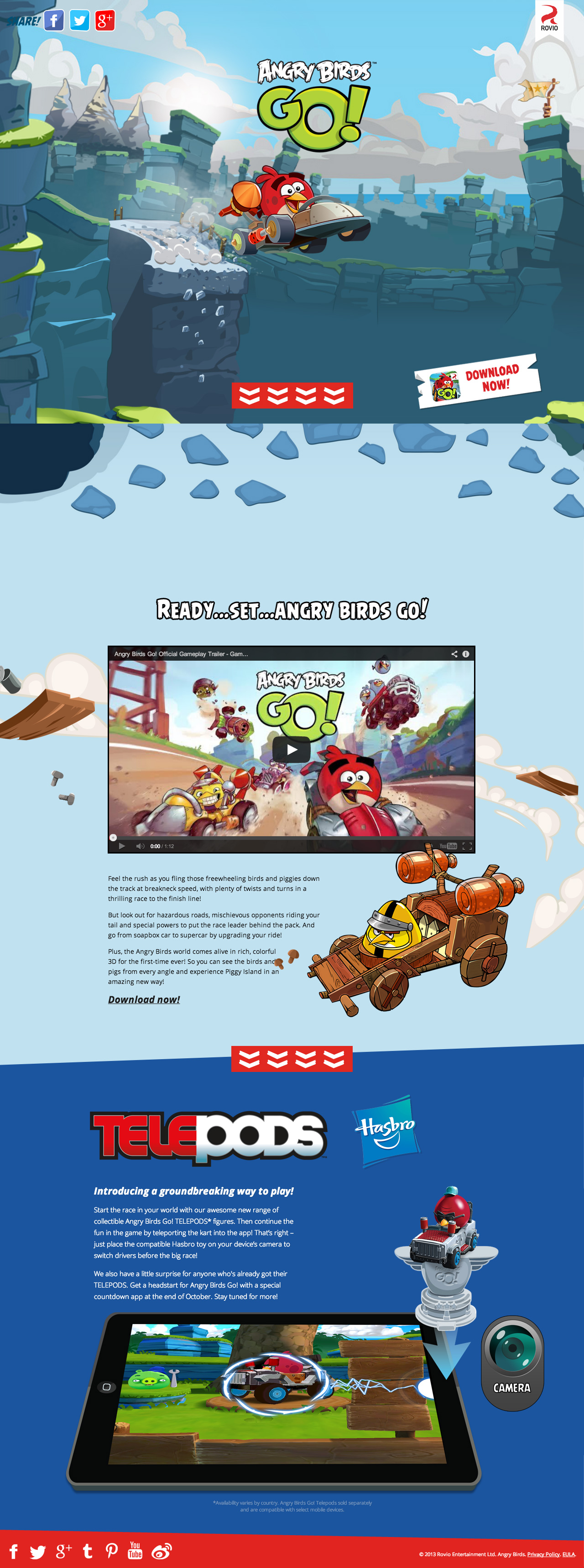 Angry Birds GO! Website Screenshot