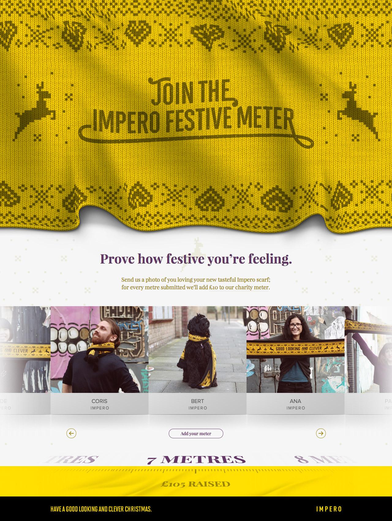 The Impero Festive Meter Website Screenshot