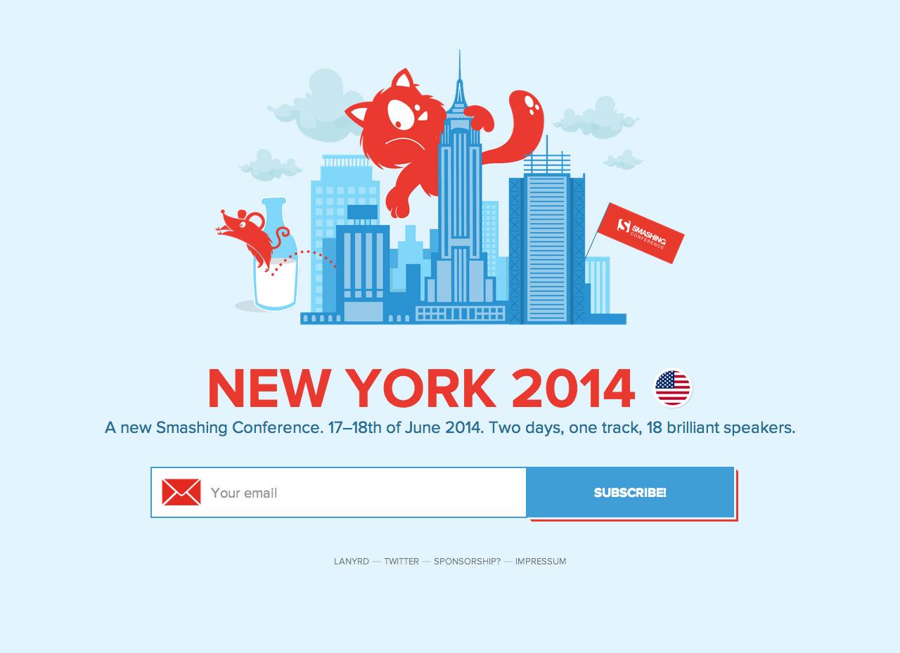 Smashing Conference 2014 Website Screenshot