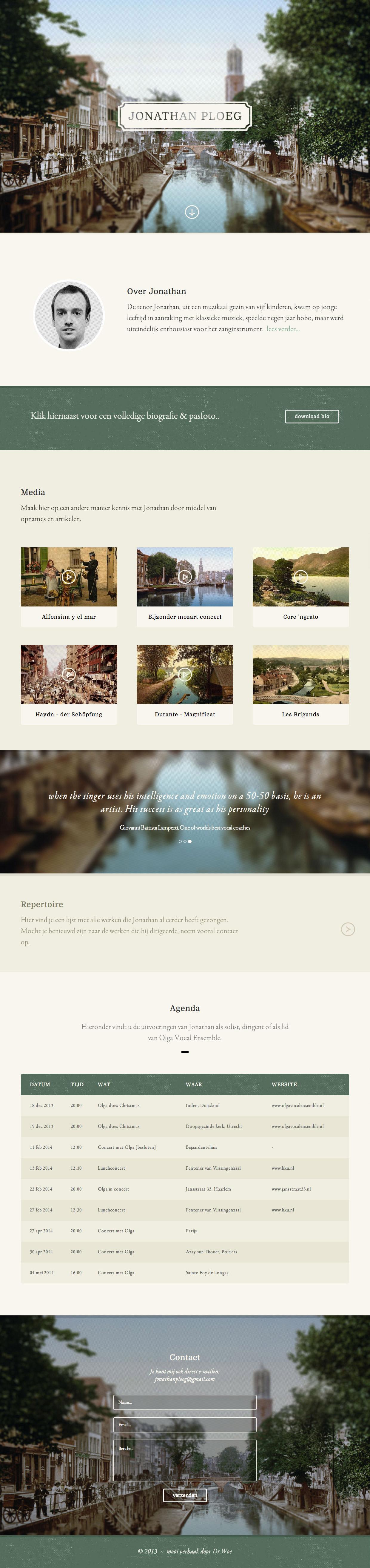 Jonathan Ploeg Website Screenshot