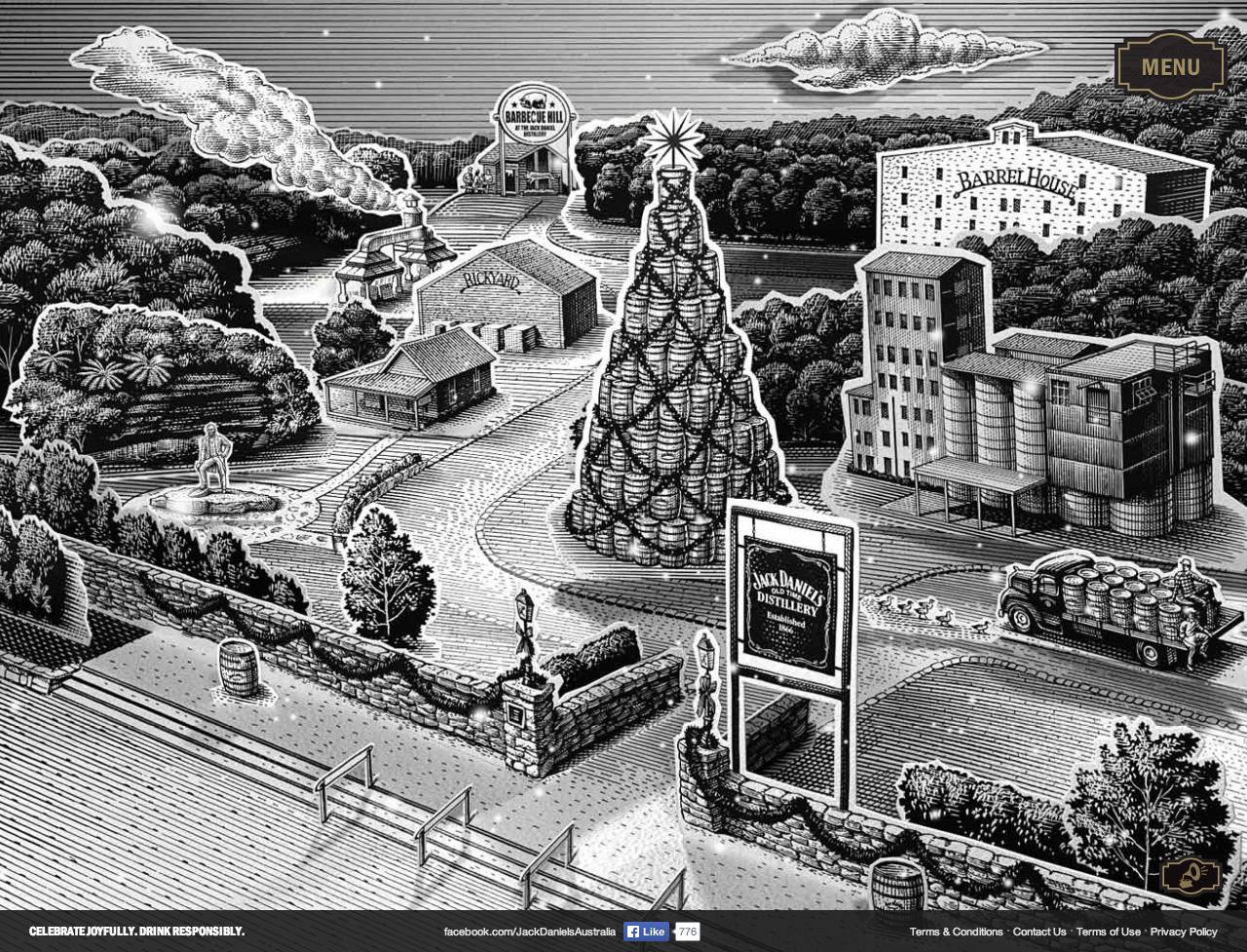 Jack Daniel's Holiday Select Website Screenshot