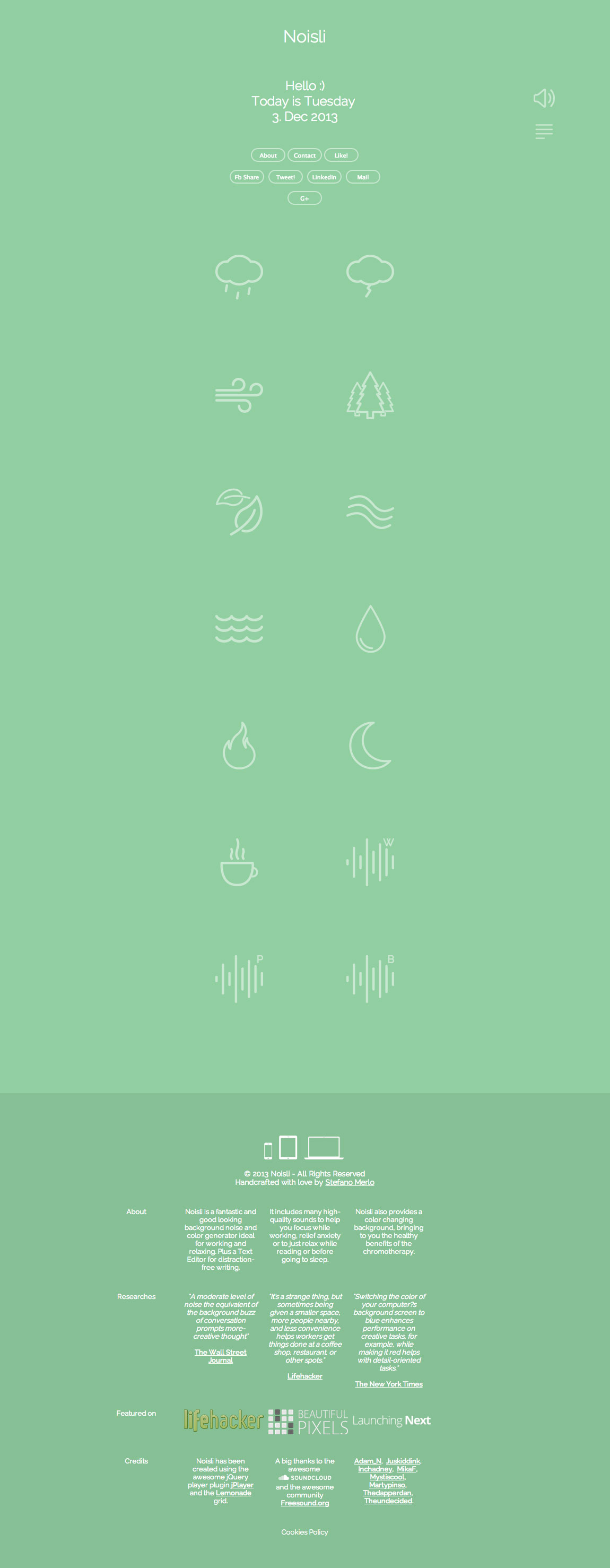 Noisli Website Screenshot