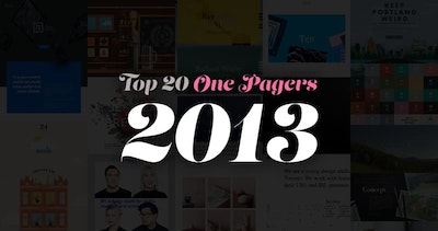 The Top 20 One Page Websites from 2013