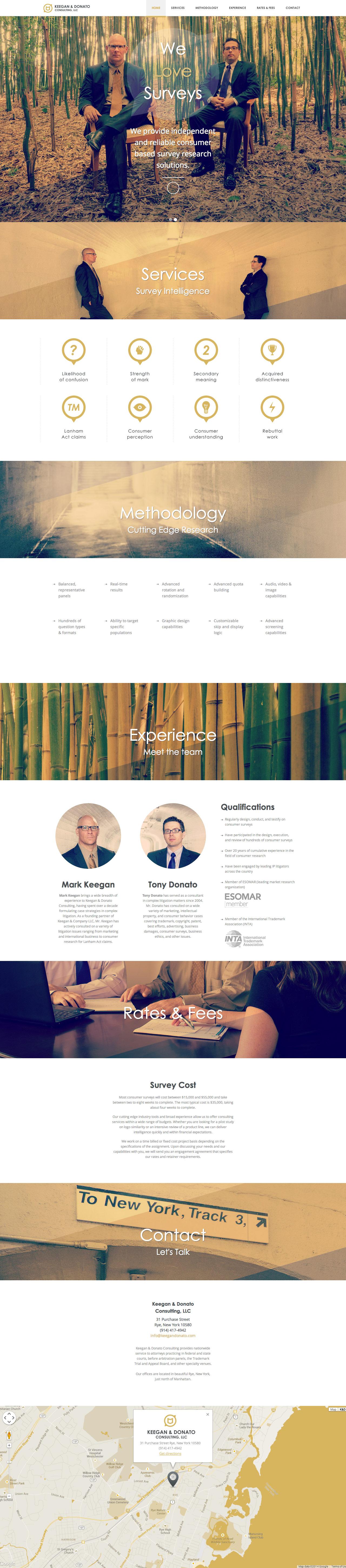 Keegan & Donato Website Screenshot