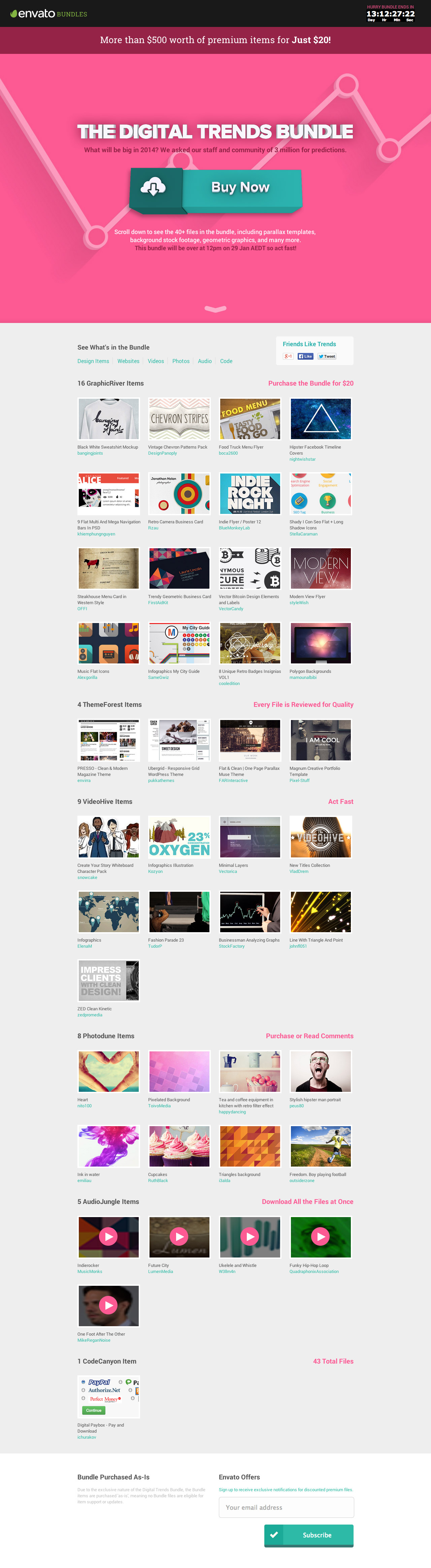 The Digital Trends Bundle Website Screenshot