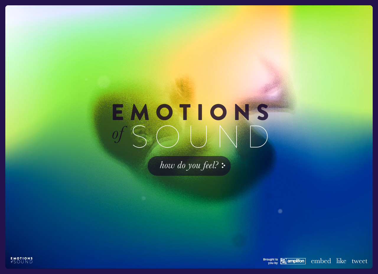 Emotions of Sound Website Screenshot