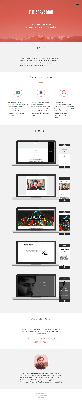 The Brave Man Website Screenshot