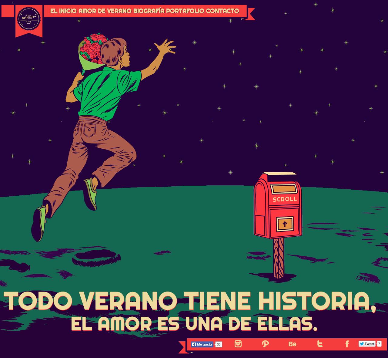 Amor de Verano Website Screenshot