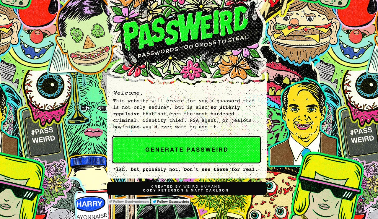 Passweird Website Screenshot