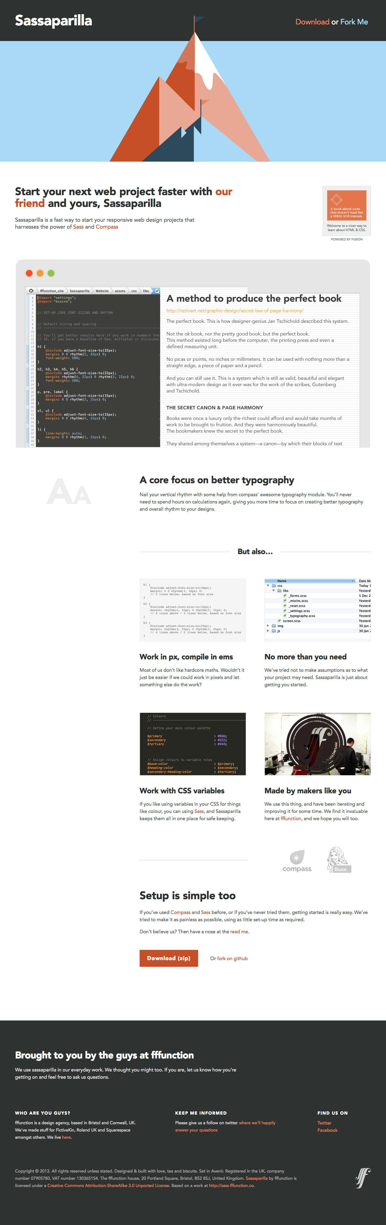 Sassaparilla Website Screenshot
