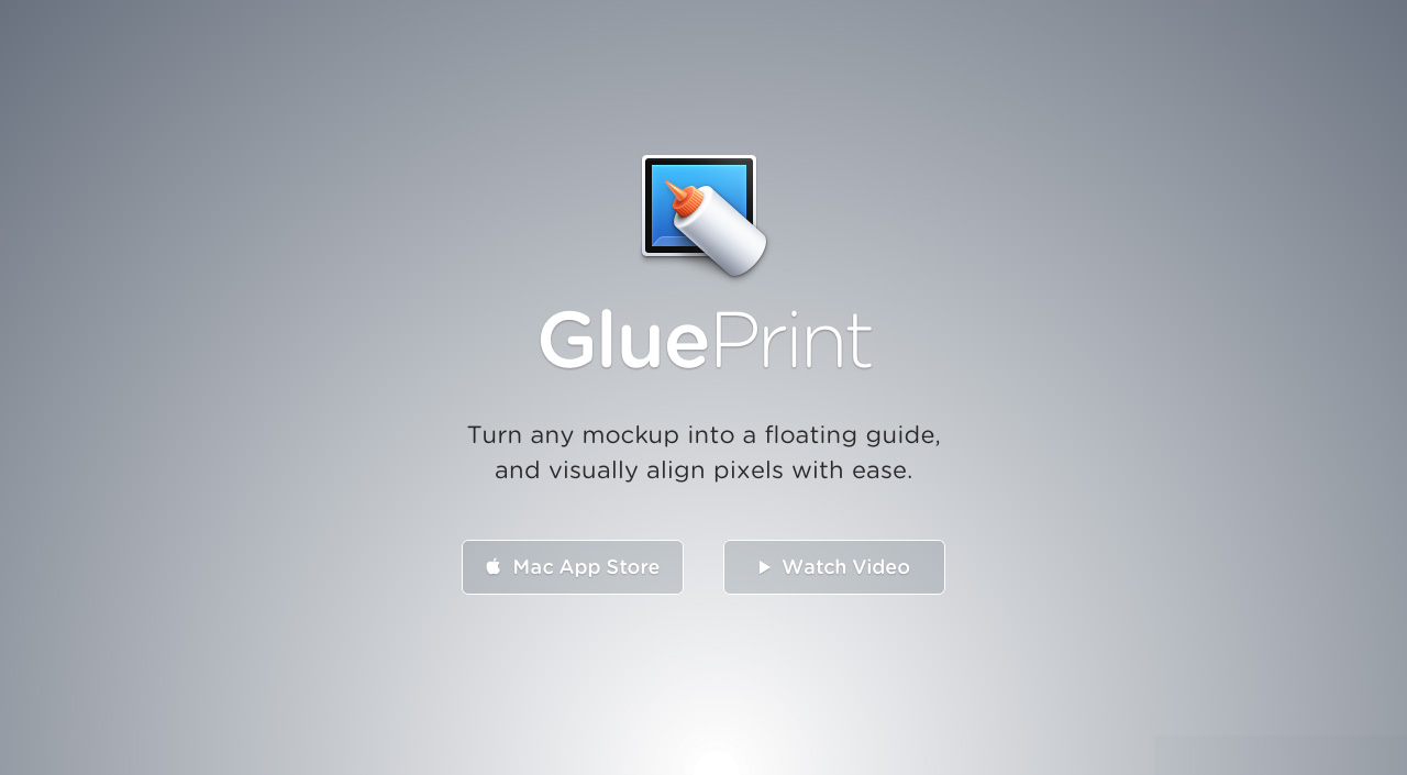 GluePrint Website Screenshot