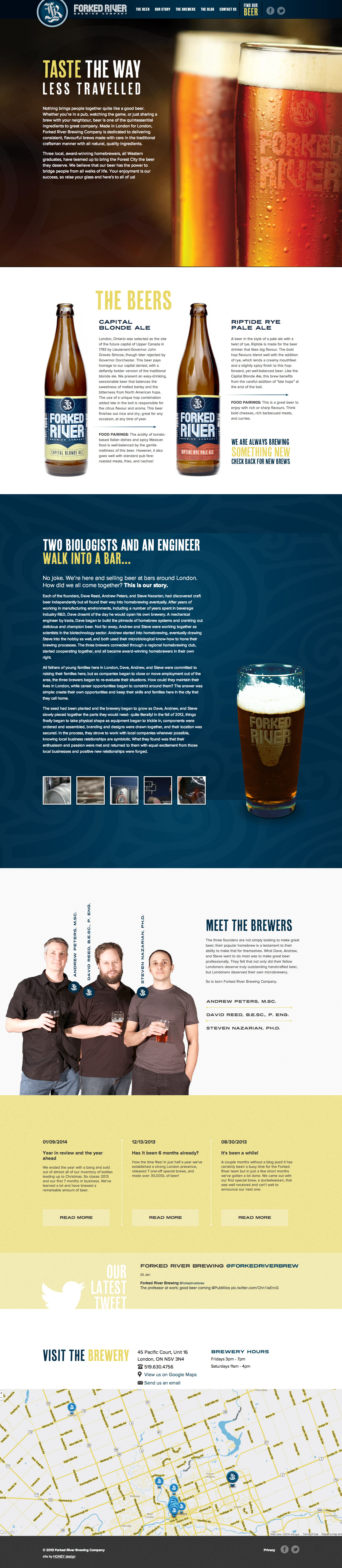 Forked River Brewing Company Website Screenshot
