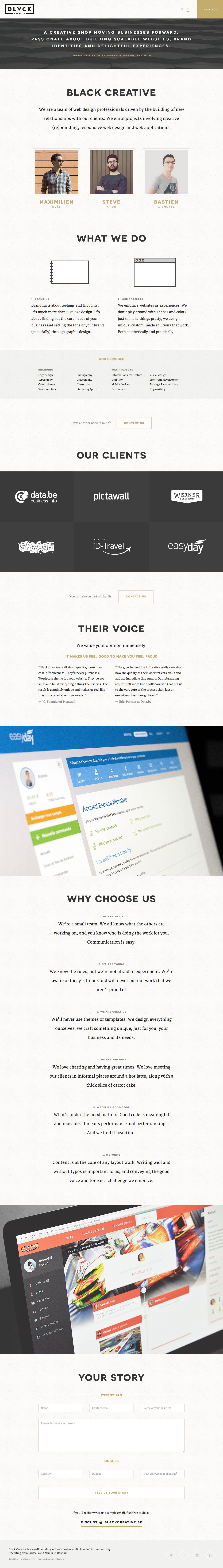 Black Creative Website Screenshot