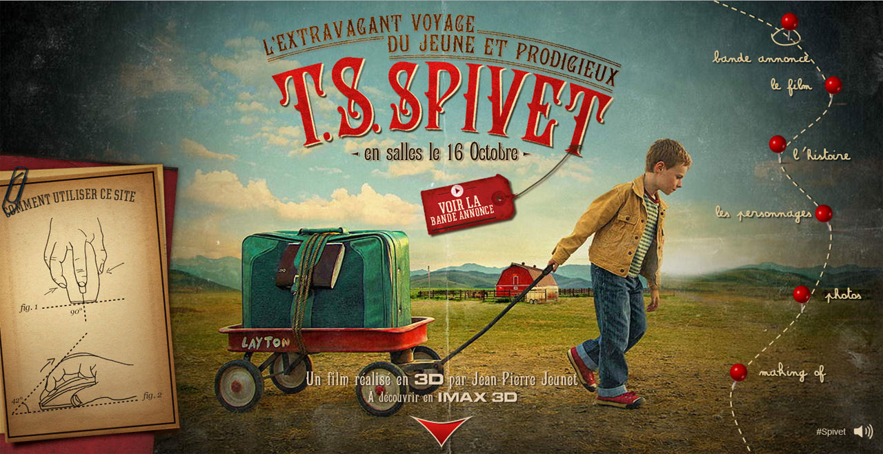 Gaumont T.S. Spivet Website Screenshot
