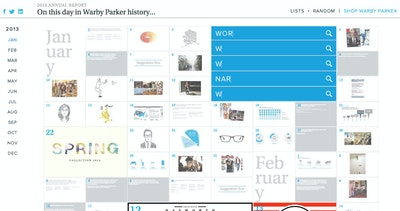 Warby Parker 2013 Annual Report Thumbnail Preview