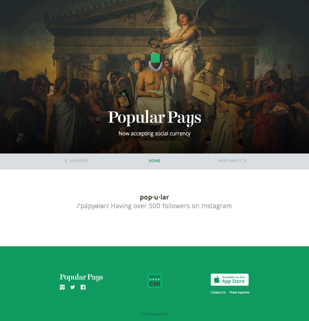 Popular Pays Website Screenshot