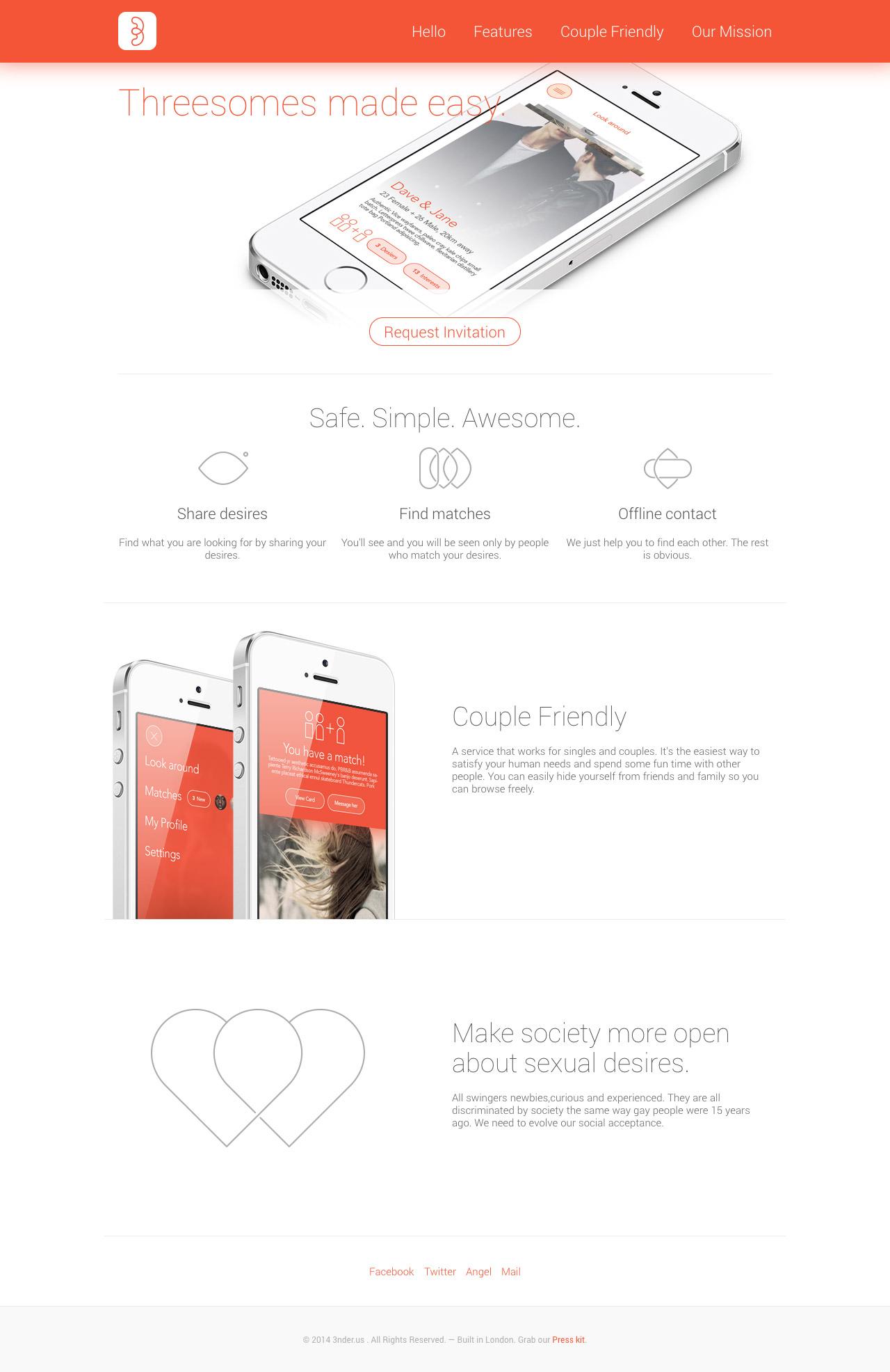3nder Website Screenshot
