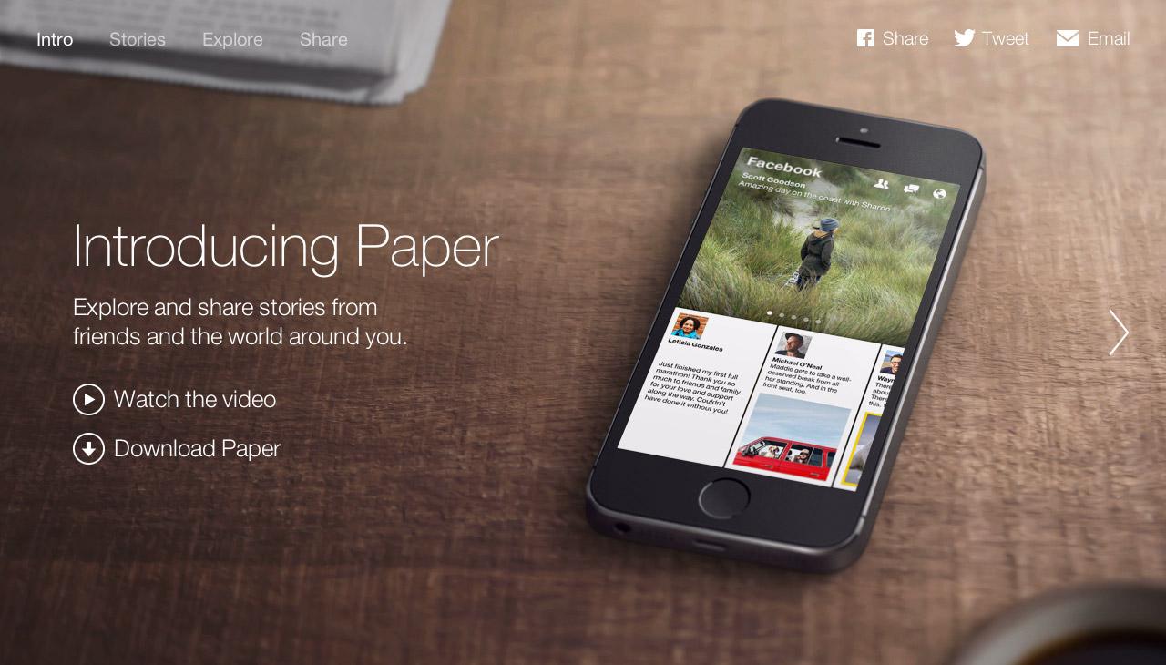 Paper Website Screenshot