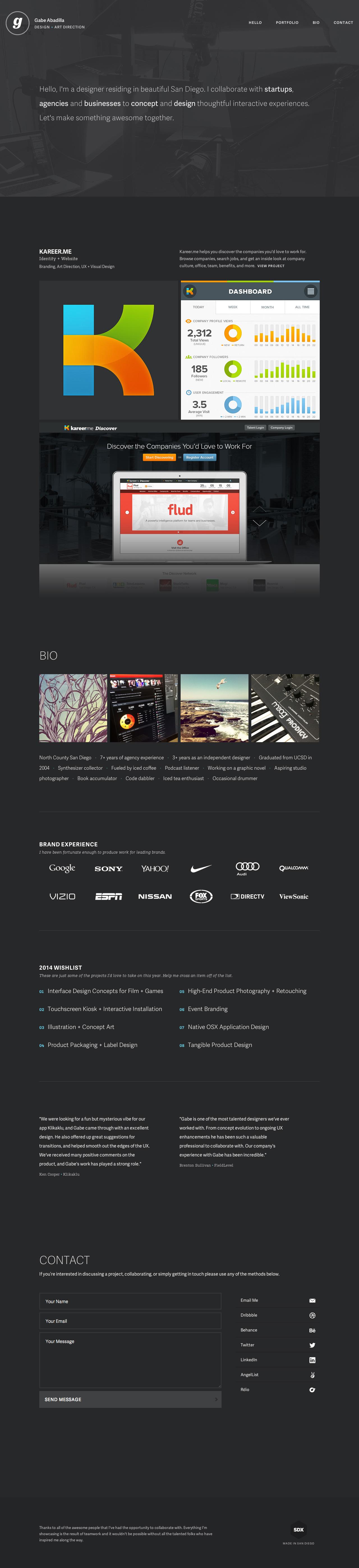 Gabe Abadilla Website Screenshot
