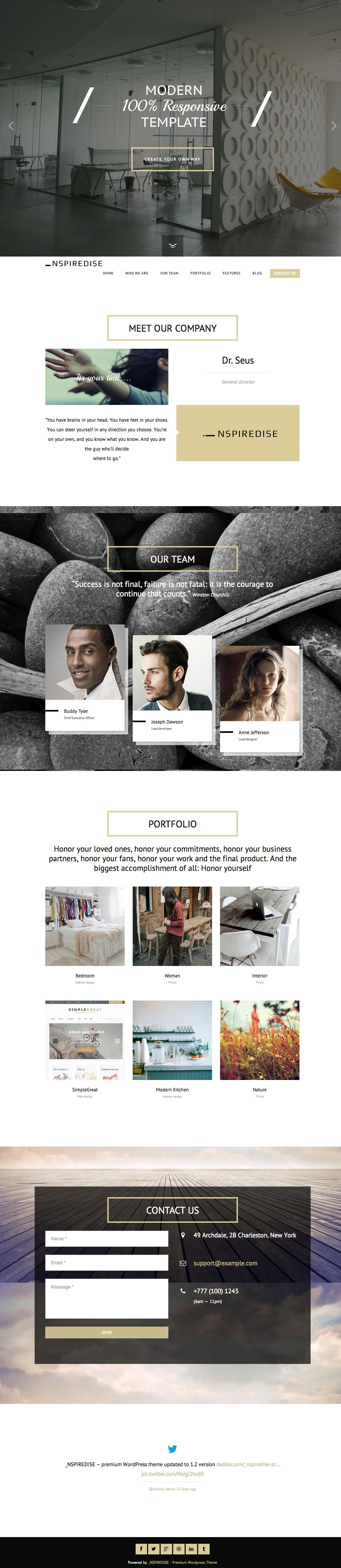 Nspired Website Screenshot
