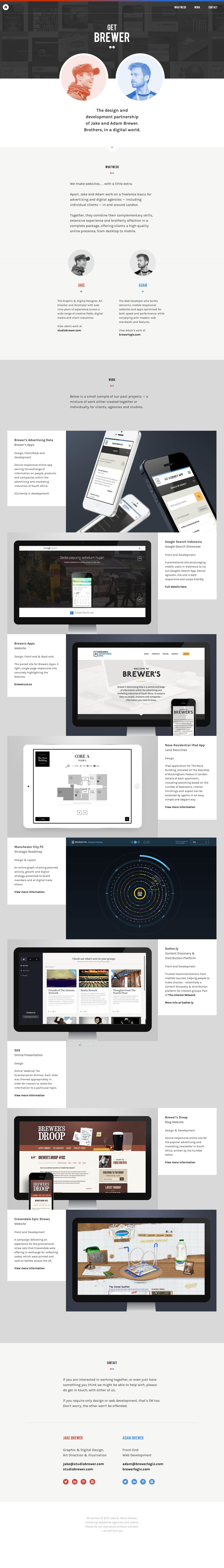Get Brewer Website Screenshot