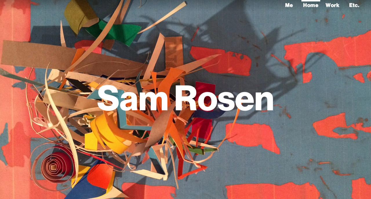 Sammy Rosen Website Screenshot