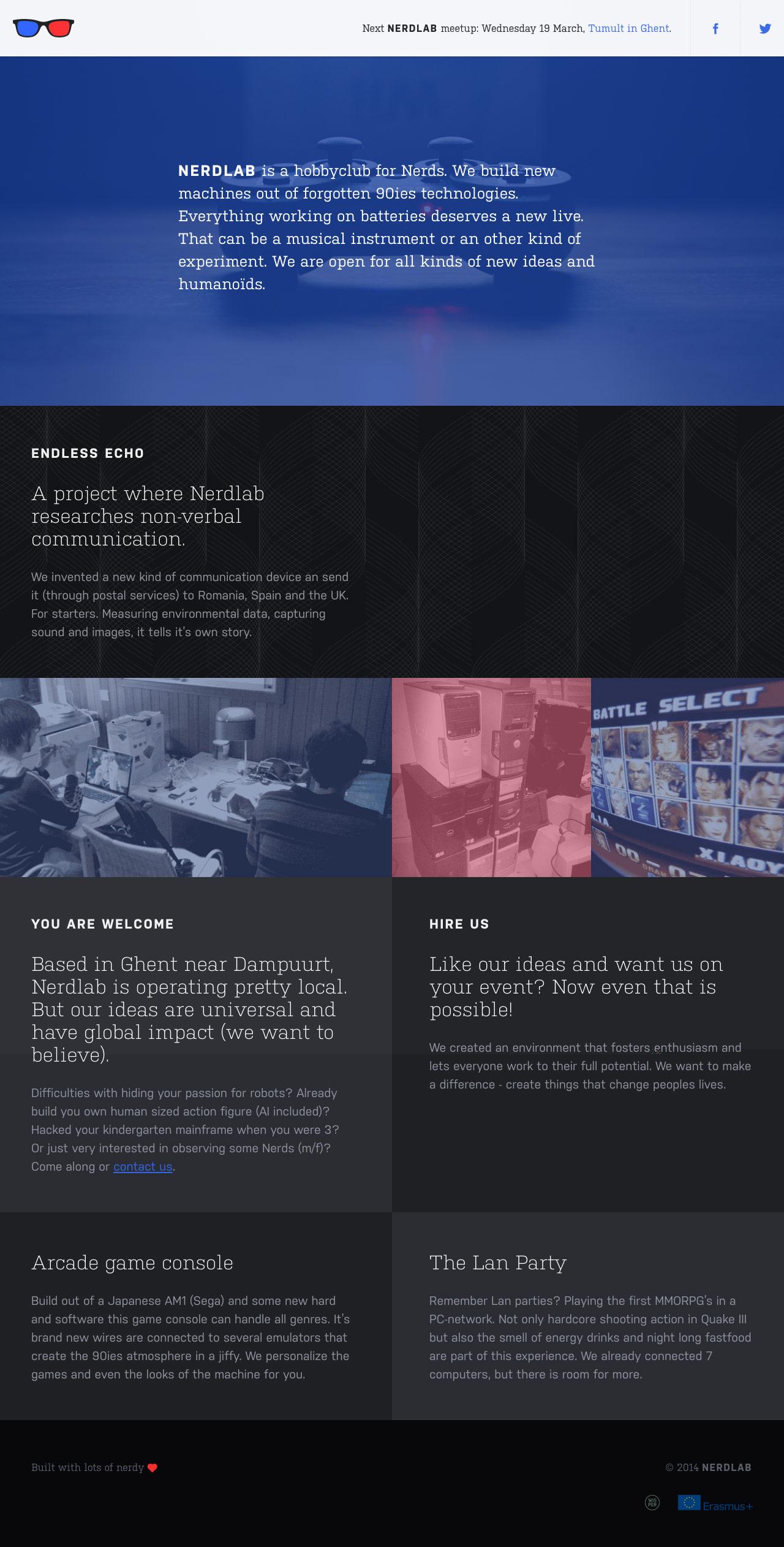 Nerdlab Website Screenshot