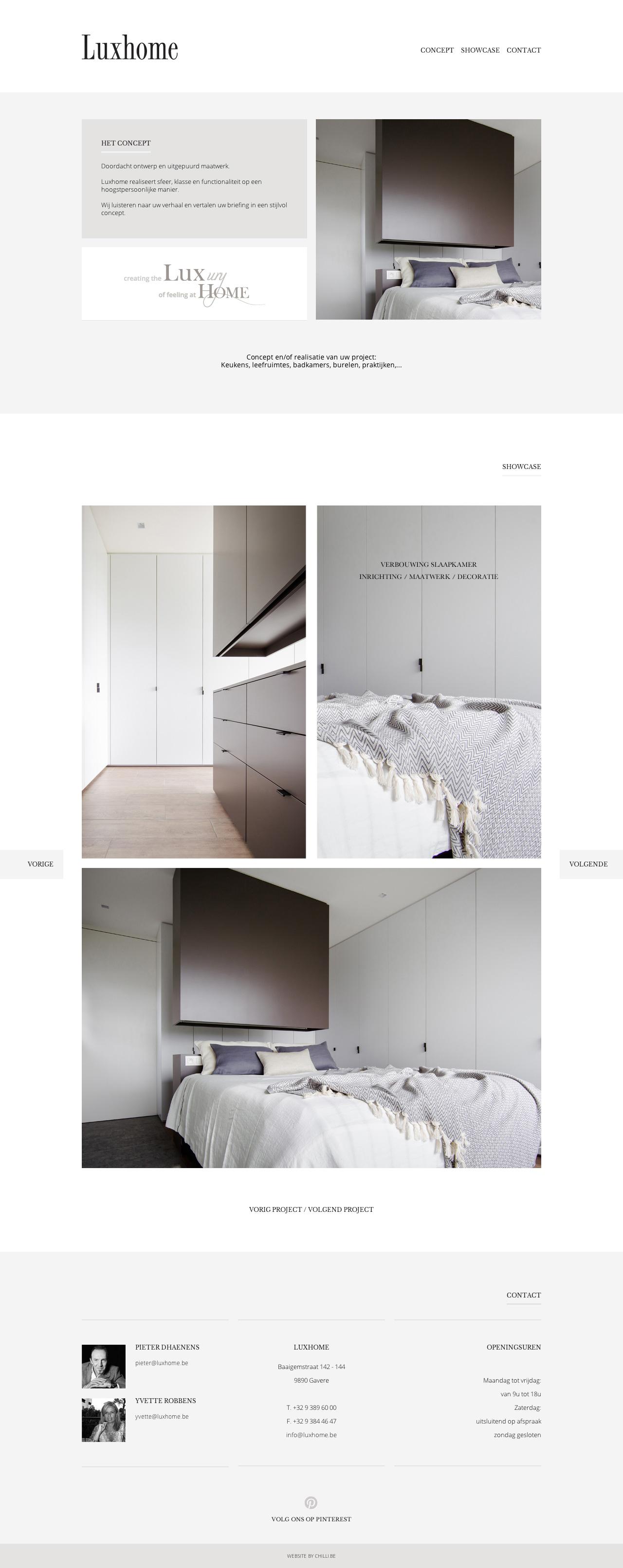 Luxhome Website Screenshot