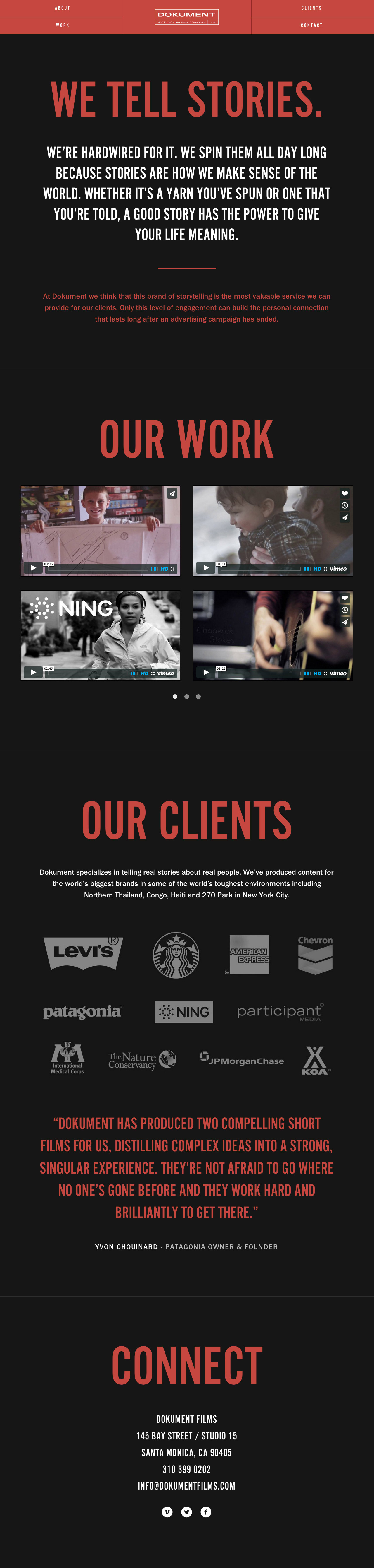 Dokument Films Website Screenshot