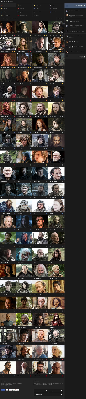 Game of Thrones Helper Website Screenshot