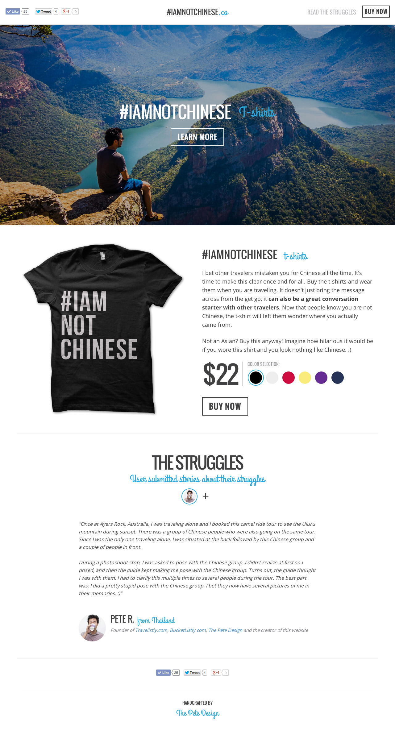 #IAmNotChinese Website Screenshot