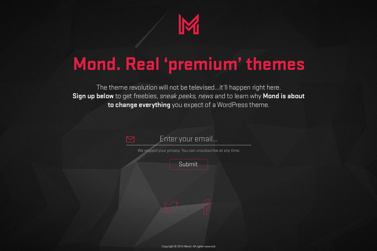 Mond Website Screenshot