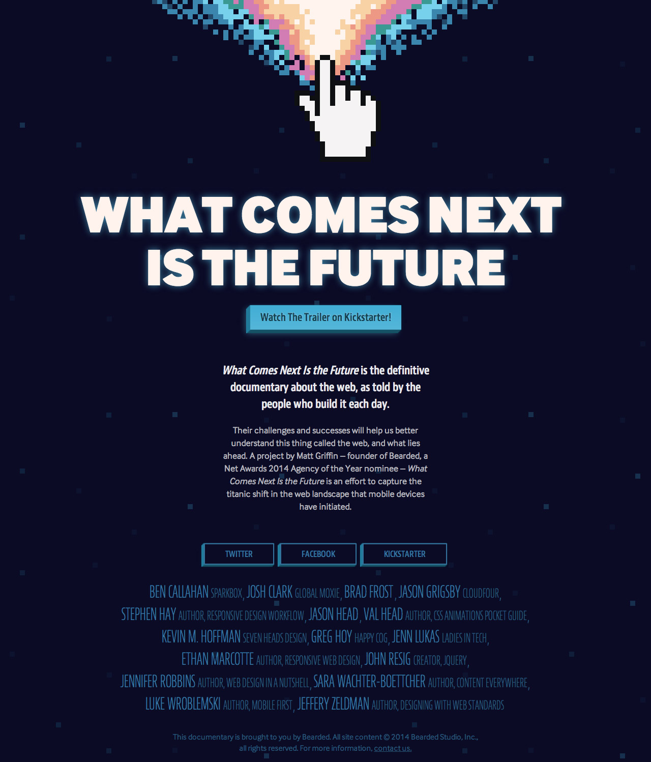 What Comes Next Is The Future Website Screenshot