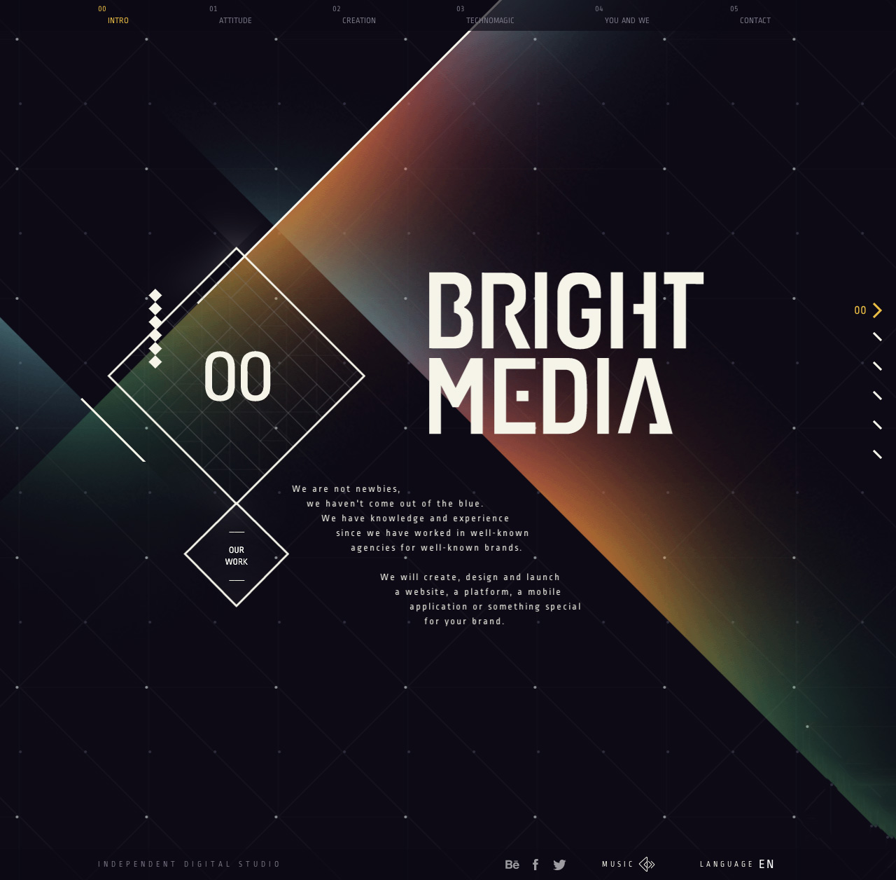 BrightMedia Website Screenshot