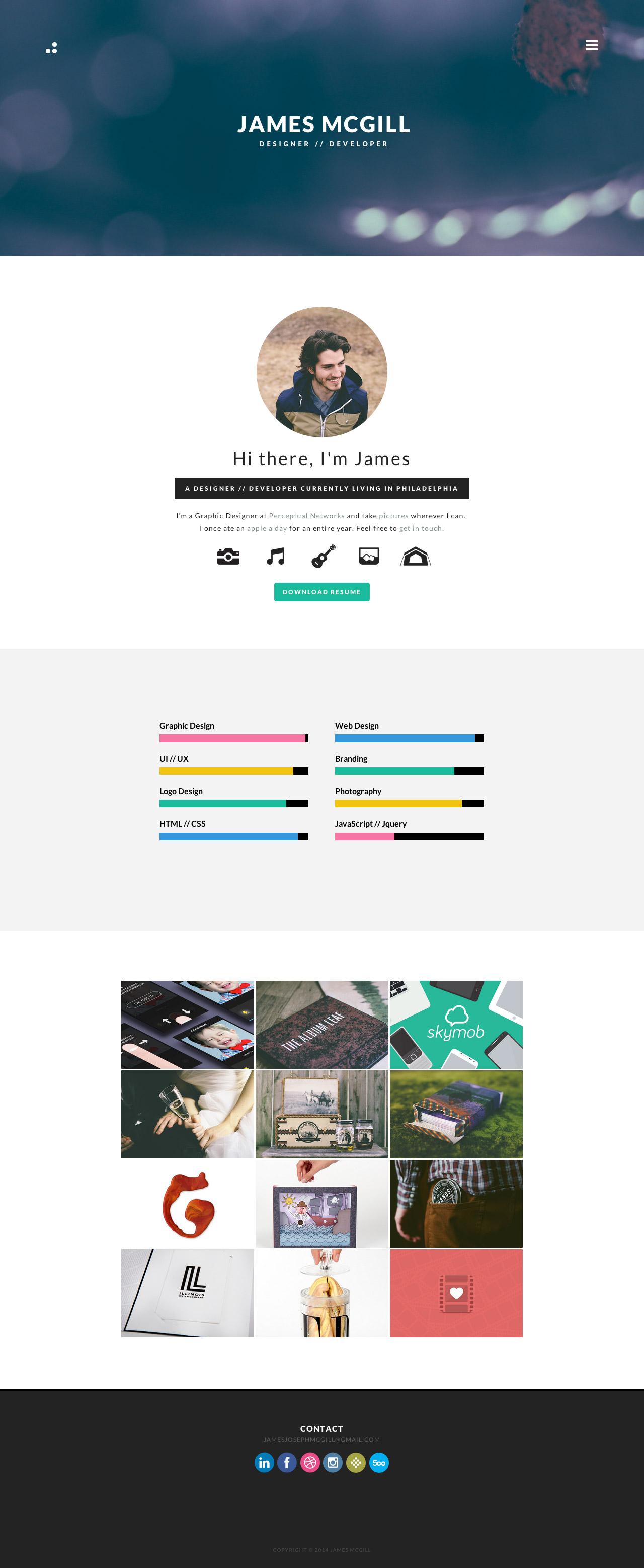 James McGill Website Screenshot