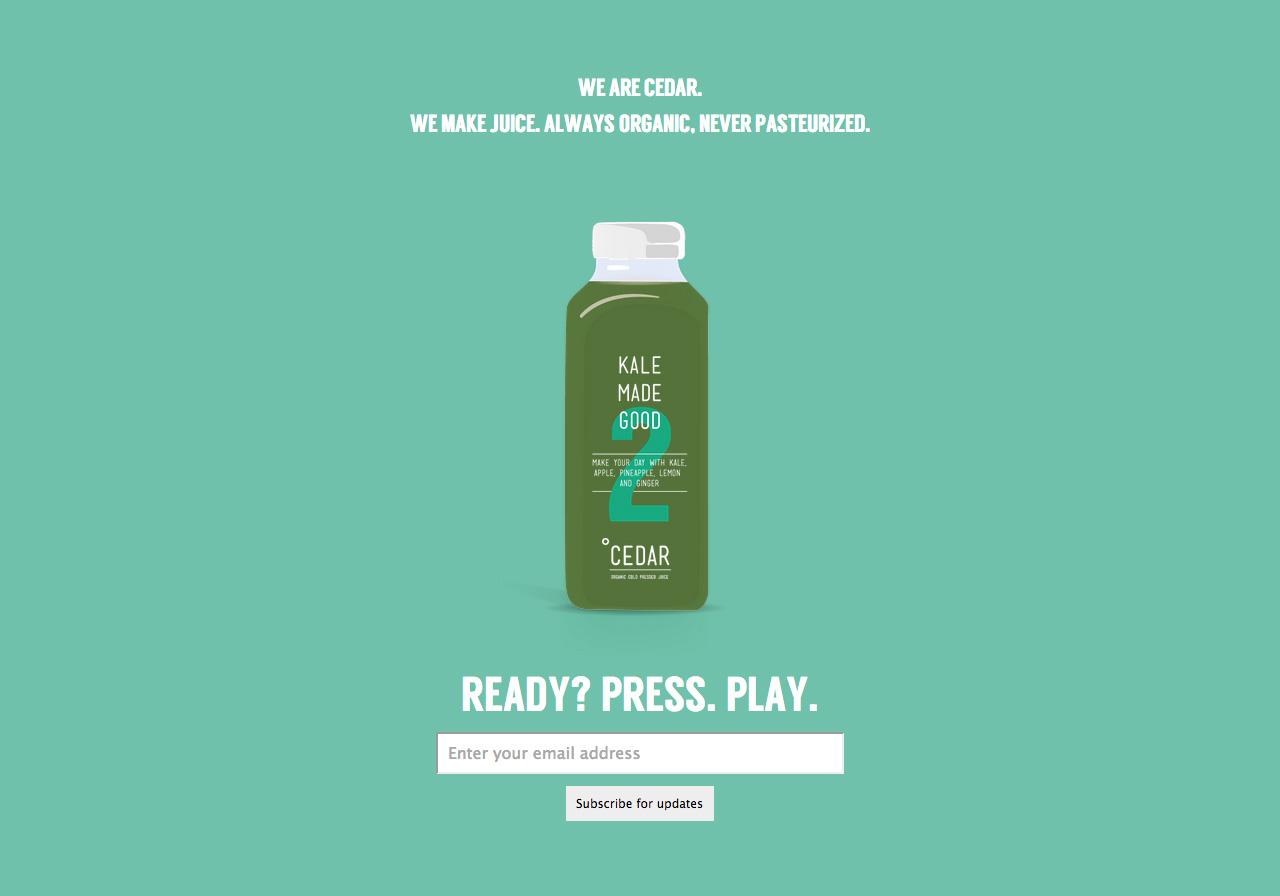 Cedar Juice Website Screenshot