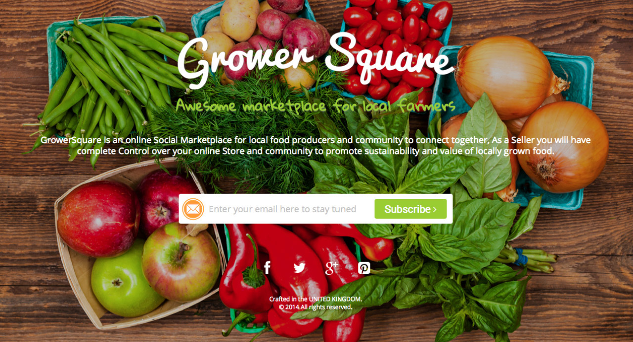 GrowerSquare Website Screenshot