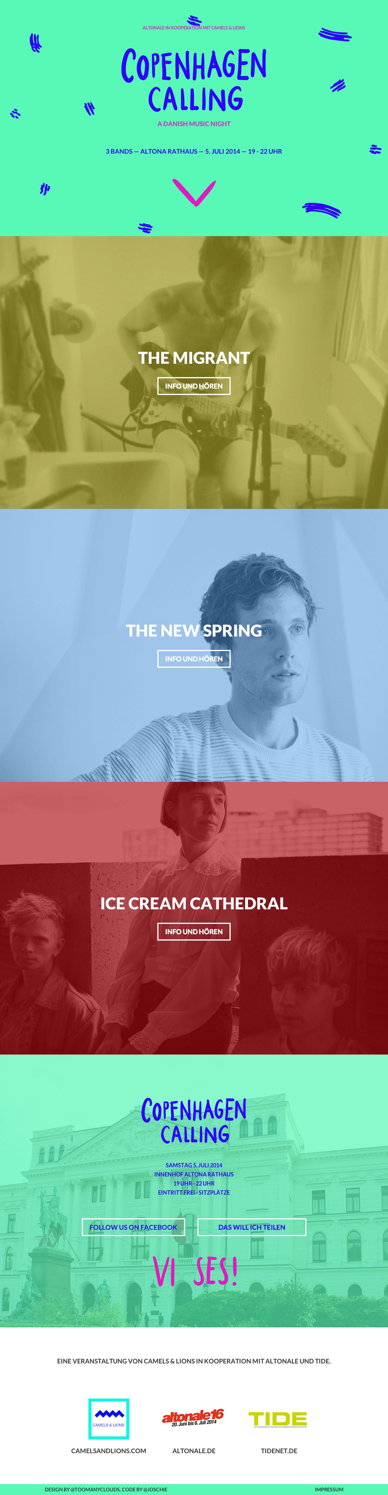 Copenhagen Calling Website Screenshot