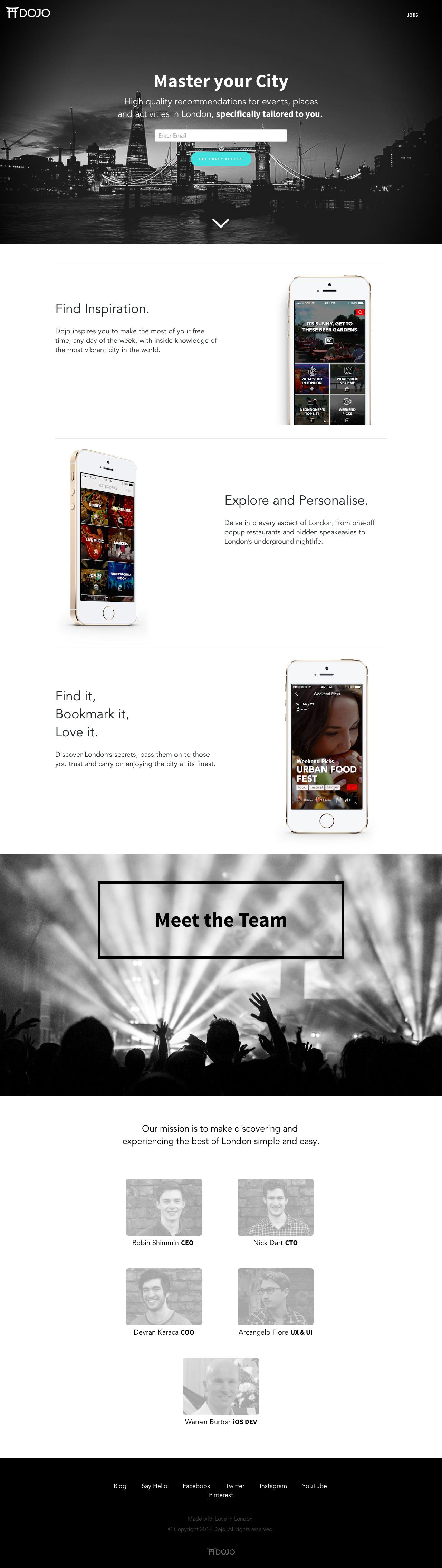 Dojo Website Screenshot