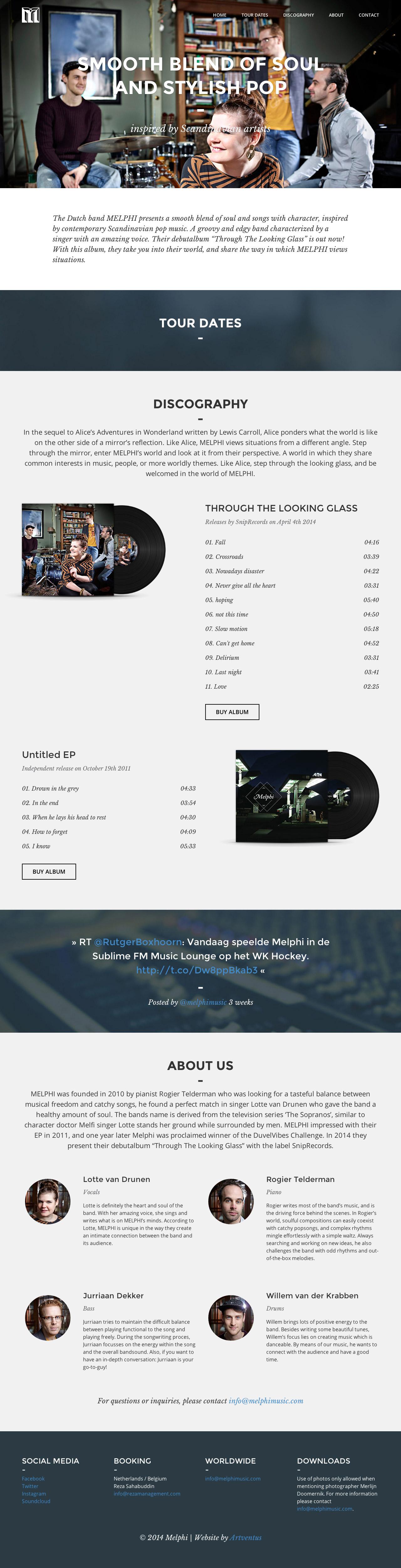 Melphi Website Screenshot