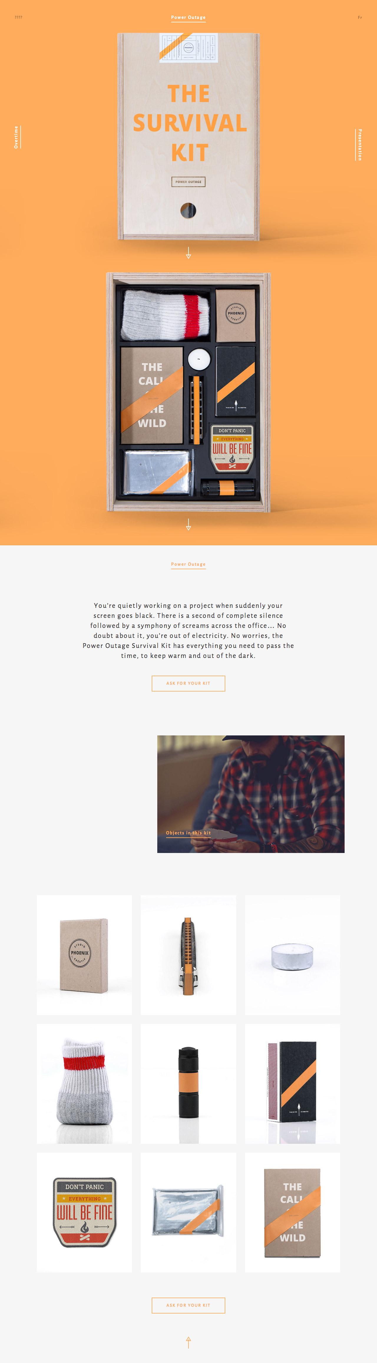 Agency Survival Kits Website Screenshot