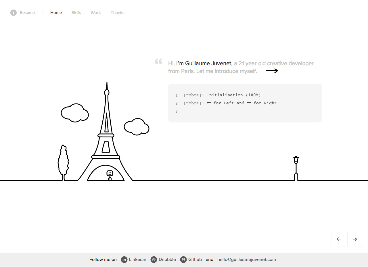 Guillaume Juvenet Website Screenshot