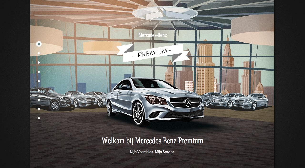 Mercedes Benz Premium Website Screenshot