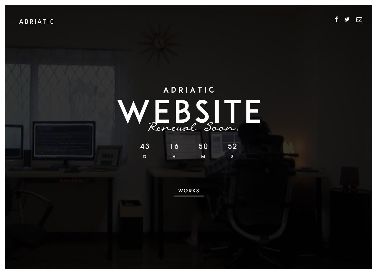Adriatic Website Screenshot
