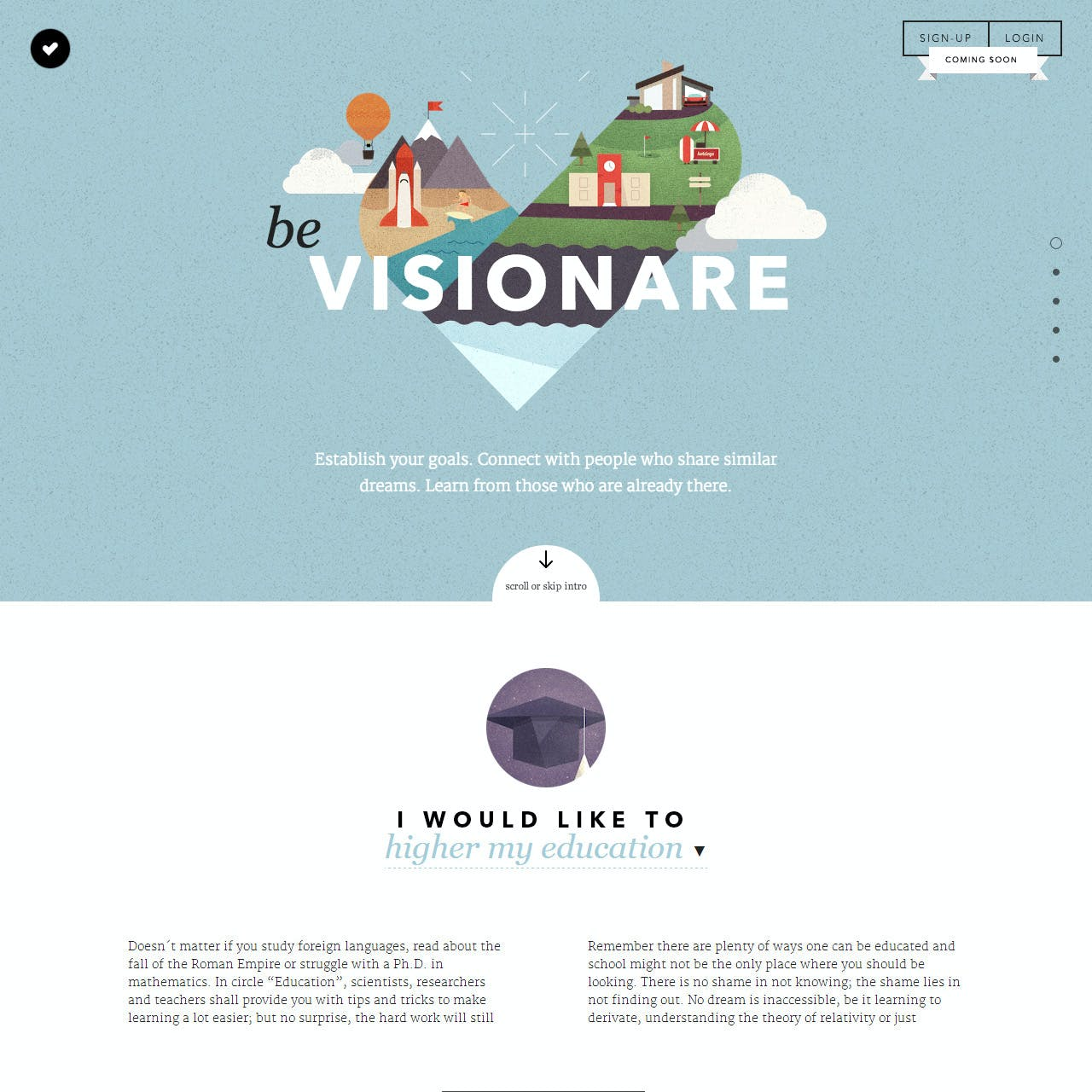 Visionare Website Screenshot