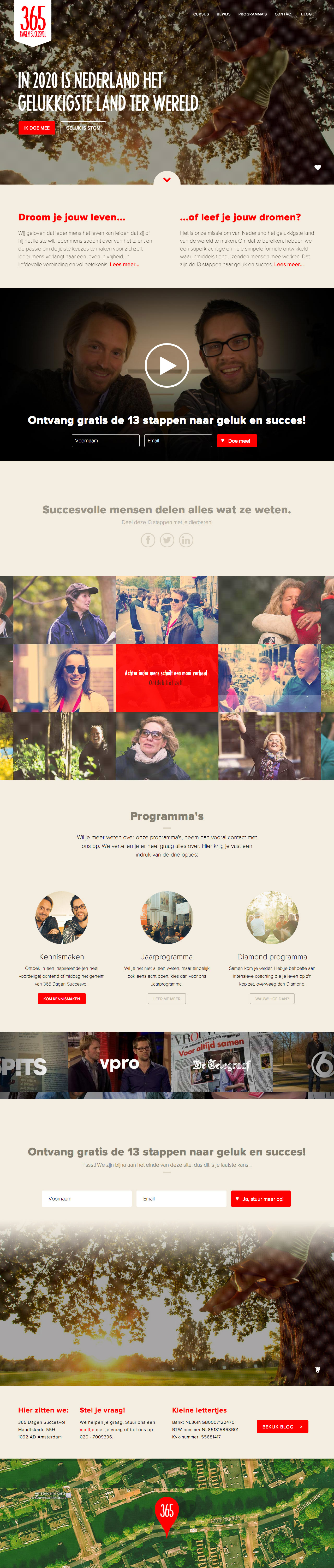 365 Dagen Succesvol Website Screenshot