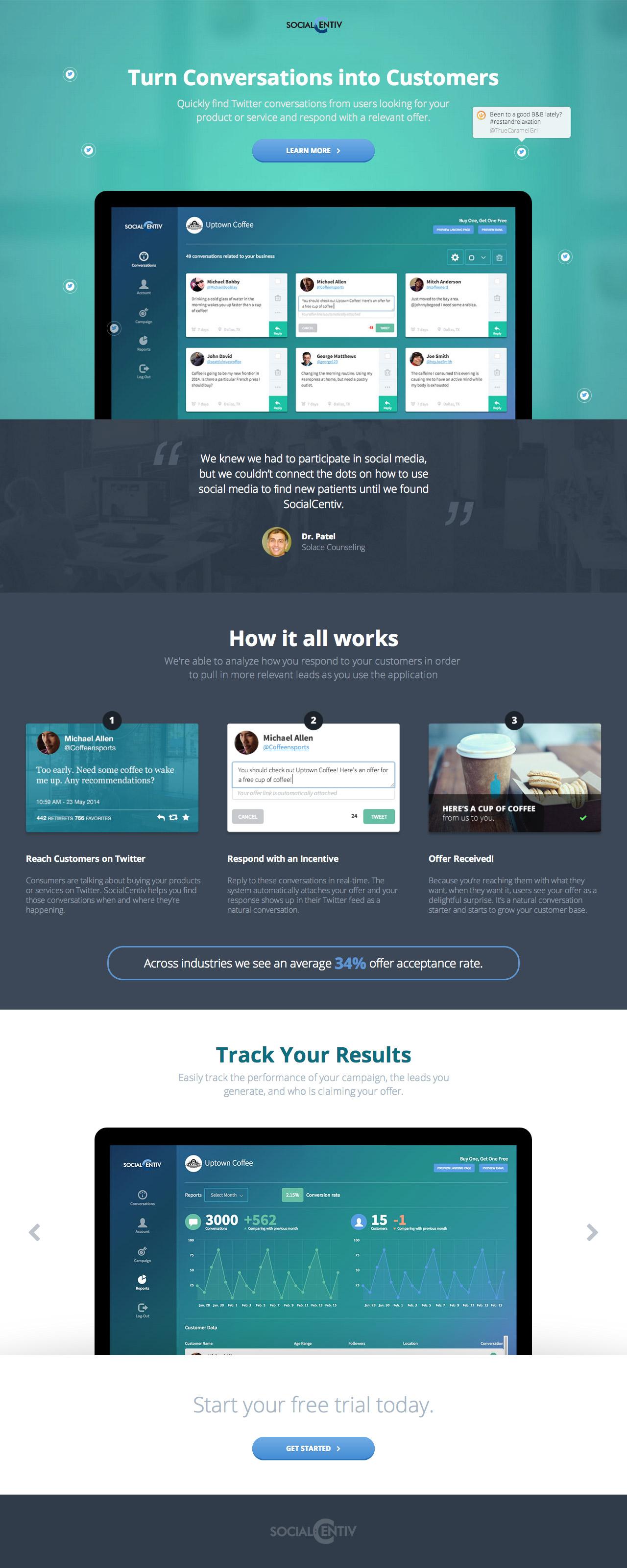 SocialCentiv Website Screenshot