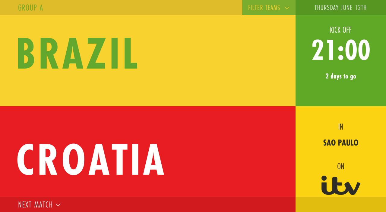 World Cup 2014 Fixtures Website Screenshot