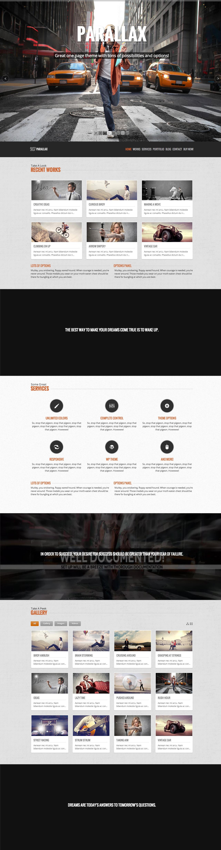 907 Parallax Website Screenshot